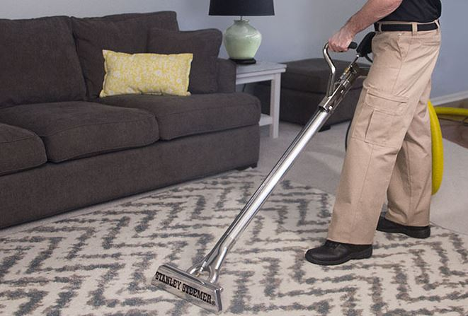 The area rug cleaning process in a home